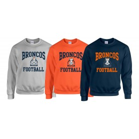 Grangmouth Broncos - Broncos Football Logo Sweatshirt