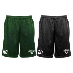 Leicester Longhorns - Embroidered Pocketed Mesh Shorts