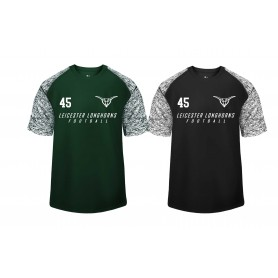 Leicester Longhorns - Printed Blend Performance Tee