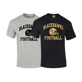 Clyde Valley Blackhawks - Custom Helmet T-Shirt
