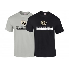 Clyde Valley Blackhawks - CV Text Logo 1 T-Shirt
