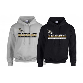 Clyde Valley Blackhawks - Split Text Logo Hoodie