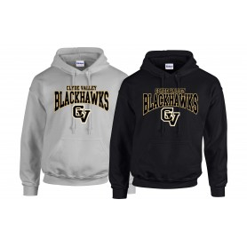 Clyde Valley Blackhawks - Clyde Valley Blackhawks CV Text Logo Hoodie