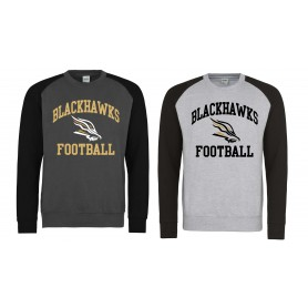 Clyde Valley Blackhawks - Printed Blackhawks Baseball Sweatshirt