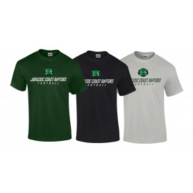 Jurassic Coast Raptors - Text Logo T Shirt