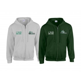 South Wales Warriors - Embroidered Zip Hoodie