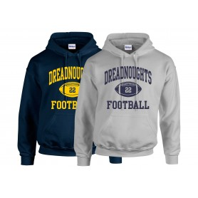 Portsmouth Dreadnoughts - Custom Ball Logo 1 Hoodie