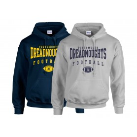 Portsmouth Dreadnoughts - Custom Ball Logo 2 Hoodie