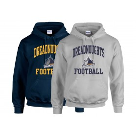 Portsmouth Dreadnoughts - Ship Football Logo Hoodie