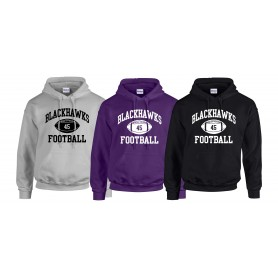 Bedford Blackhawks - Custom Ball 1 Logo Hoodie
