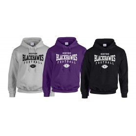Bedford Blackhawks - Custom Ball Logo 2 Hoodie