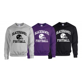 Bedford Blackhawks - Custom Helmet Sweatshirt