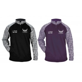 Bedford Blackhawks - Customised Embroidered Tonal Blend Sport 1/4 Zip