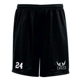 Embroidered Mesh Shorts