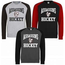 Medway Assassins - Printed Hockey Logo Baseball Sweatshirt