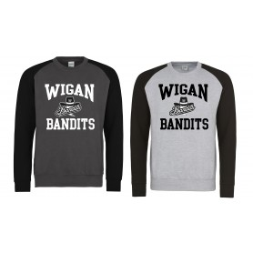 Wigan Bandits - Football Logo Baseball Sweatshirt