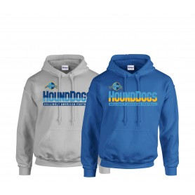 Hellingly Hound Dogs - Athletic Split Text Logo Hoodie