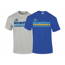 Hellingly Hound Dogs - Athletic Split Text Logo T-Shirt