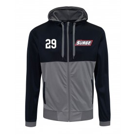 Staffordshire Surge - Embroidered Retro Track Zip Hoodie