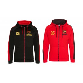 Donegal Derry Vipers - Embroidered Sports Performance Zip Hoodie