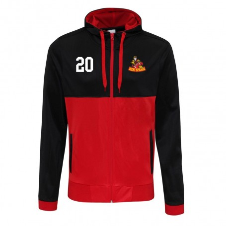 ICENI Spears - Embroidered Retro Track Zip Hoodie