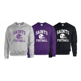 Durham Saints - Custom Helmet Logo Sweatshirt
