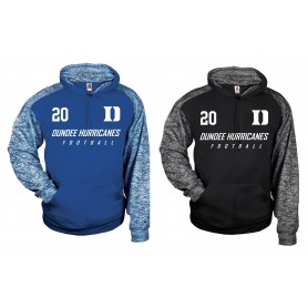 Dundee Hurricanes - Printed Sports Blend Football Logo Hoodie