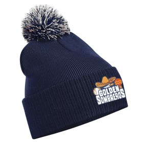 Golden Sombreros - Embroidered Bobble Hat