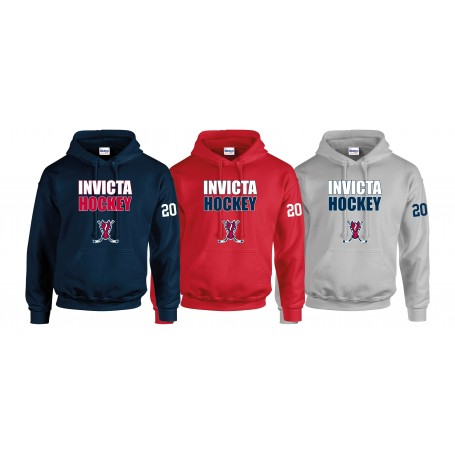 Invicta Junior Ice Hockey Club - Youth Custom Sticks Logo Hoodie