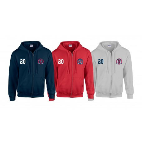 Invicta Junior Ice Hockey Club - Customised Embroidered and Printed Zip Hoodie