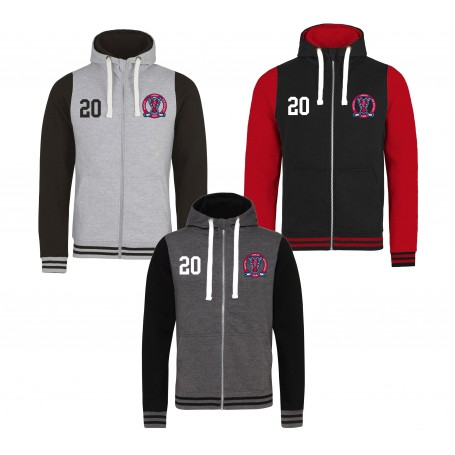 Invicta Junior Ice Hockey Club - Youth Embroidered Zip Varsity Hoodie