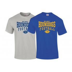 Hellingly Hound Dogs - Custom Ball Logo T-Shirt 2
