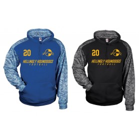 Hellingley Hounddogs - Printed Sports Blend Football Logo Hoodie