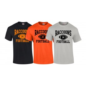 Rugby Raccoons - Custom Ball Logo T-Shirt 1
