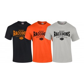 Rugby Raccoons - Custom Ball Logo T-Shirt 2