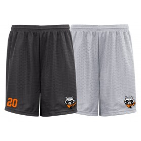 Rugby Raccoons - Embroidered Mesh Shorts