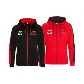 Denain Coyotes - Embroidered Sports Performance Zip Hoodie
