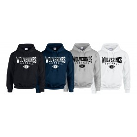 Heriot Watt Wolverines - Custom Ball Logo Hoodie 2