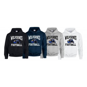 Heriot Watt Wolverines - Full Football Logo Hoodie