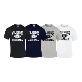 Heriot Watt Wolverines - Custom Ball 1 Logo T-Shirt