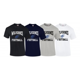 Heriot Watt Wolverines - Football Logo T-Shirt