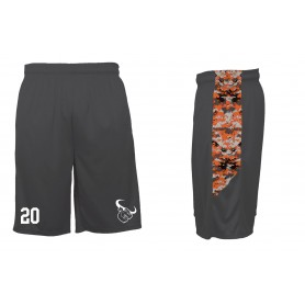 Lincolnshire Longhorns - Embroidered Pocketed Digital Panel Shorts