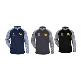 UH Sharks - Embroidered Tonal Blend Sport Quarter Zip