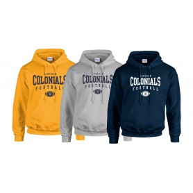 Lincoln Colonials - Custom Ball Logo 2 Hoodie