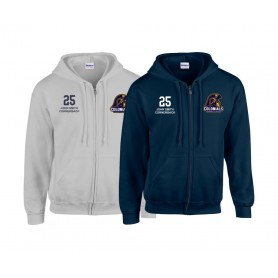Lincoln Colonials - Custom Embroidered Zip Hoodie