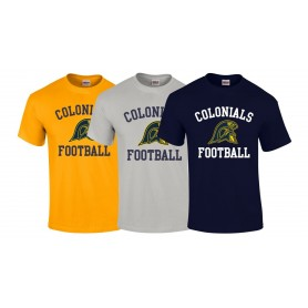 Lincoln Colonials - Football Logo T Shirt