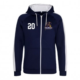 Lincoln Colonials - Embroidered Sports Performance Zip Hoodie