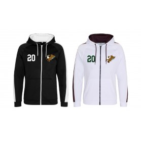 Leeds Gryphons - Custom Embroidered Sports Performance Zip Hoodie