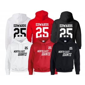 North East Giants - Custom Jersey Style Hoodie