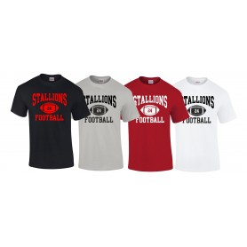 Aschaffenburg Stallions - Custom Ball Logo 1 T Shirt